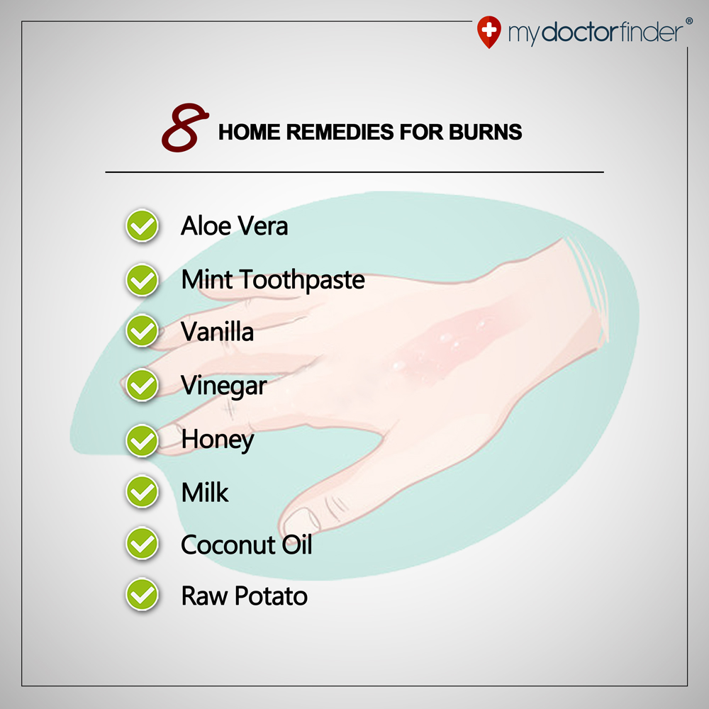 8 home remedies for burns